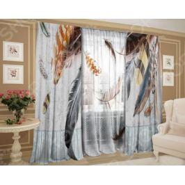 Фотокомплект штор и тюля ТамиТекс «Невесомое перышко»