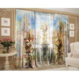 Фотокомплект штор и тюля ТамиТекс «Цветочный вазон»