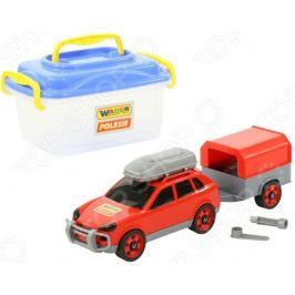 Набор: машинка с конструктором Wader «Автомобиль легковой с прицепом»