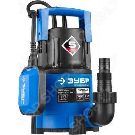 Насос погружной дренажный для чистой воды Зубр «Профессионал» НПЧ-Т3-750