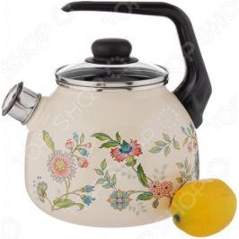 Чайник со свистком Северсталь «Луговые цветы»
