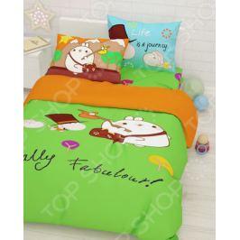 Детский комплект постельного белья Сирень «Поход»