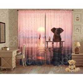 Комплект фототюля ТамиТекс «Слон и Моська»