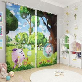 Фотошторы детские Сирень «Веселые пузыри»