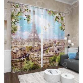 Фотошторы Сирень «Парижское небо»