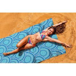 Покрывало пляжное Сирень «Синие волны»