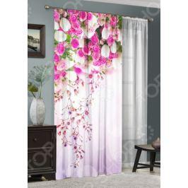 Комплект: фотоштора и тюль ТамиТекс «Баланс цветов»