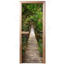 Дверь для бани с фотопечатью Банные штучки «Подвесной мост»