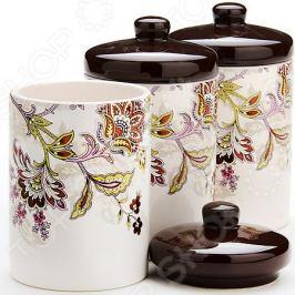 Набор банок для сыпучих продуктов Loraine «Стилизованные цветы»