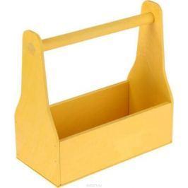 Кашпо, флористическое, цвет: желтый, 11 х 24 х 20 см