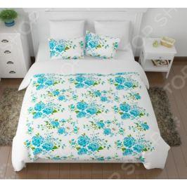 Комплект постельного белья Сирень «Голубые пионы»