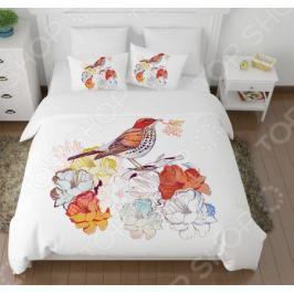 Комплект постельного белья Сирень «Лесная птичка»