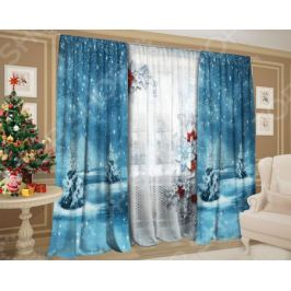 Комплект: шторы и тюль ТамиТекс «Альпийский снег»