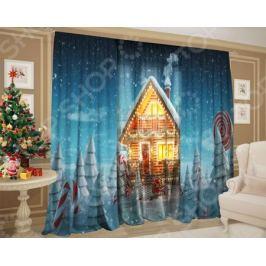 Комплект: шторы и тюль ТамиТекс «Зимняя стужа»