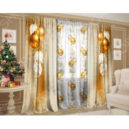 Комплект: шторы и тюль ТамиТекс «Золотая нить»