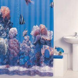 Штора для ванной Iddis Pacific Ocean, цвет: голубой, 180 x 200 см