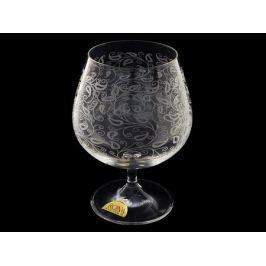 Набор бокалов для бренди и коньяка Белое кружево, 6 шт., 400 мл, стекло, Rona