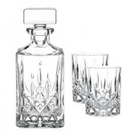 Набор из 2 хрустальных стакана для виски 295 мл и декантера 750 мл Noblesse