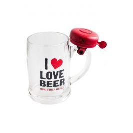 Бокал для пива со звонком «I love beer»