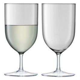 Набор из 2 бокалов для воды и вина «Hint», 400 мл серый