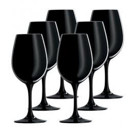 Набор бокалов для дегустации вина 299 мл, 6 шт, черные