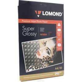 Lomond Super Glossy Warm 295/A4/20л суперглянцевая тепло-белая
