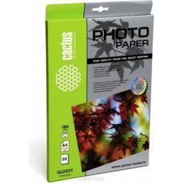 Cactus CS-GA418050 A4/180г/м2 глянцевая фотобумага для струйной печати (50 листов)