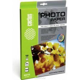 Cactus CS-MA4100100 A4/100г/м2 матовая фотобумага для струйной печати (100 листов)