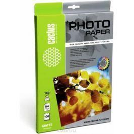 Cactus CS-MA4140100 A4/140г/м2 матовая фотобумага для струйной печати (100 листов)