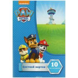 Paw Patrol Цветной картон 10 листов 10 цветов