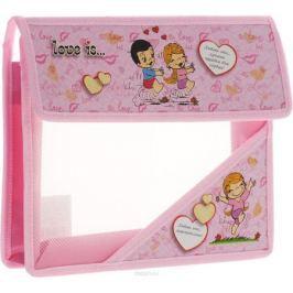 Action! Папка для тетрадей Love is цвет розовый