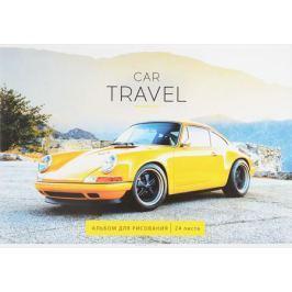 ArtSpace Альбом для рисования Car Travel 24 листа цвет желтый