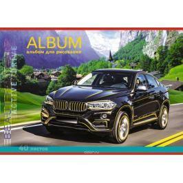 Апплика Альбом для рисования Черный внедорожник 40 листов С1793-09 Бумага и картон