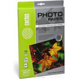 Cactus CS-MA417050DS A4/170г/м2 матовая фотобумага для струйной печати (50 листов)