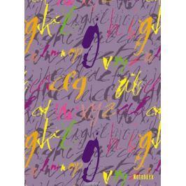 Канц-Эксмо Записная книжка Орнамент Шрифты в клетку 64 листа