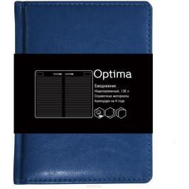 Канц-Эксмо Ежедневник Optima недатированный 136 листов цвет синий формат A6