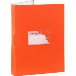 Бюрократ Папка Tropic с файлами 40 листов формат А4 цвет оранжевый