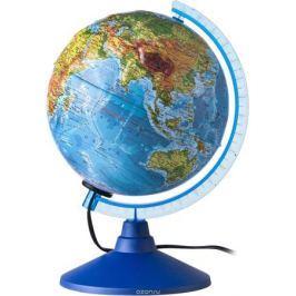 Globen Глобус Земли физико-политический рельефный с подсветкой диаметр 250 мм