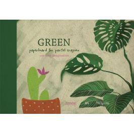 Kroyter Альбом для рисования пастелью цвет зеленый 10 листов