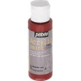 Pebeo Краска акриловая декоративная Acrylic Paint цвет 15 мареновый красный 59 мл