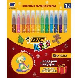 Bic Фломастеры Kid Couleur Новогодний набор 12 цветов