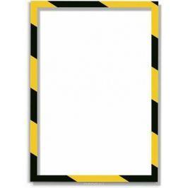 Магнитная защитная слайд-рамка для предупреждающих знаков цвет желто-черная 5 шт