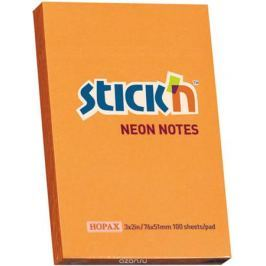 Stick'n Блок неоновый самоклеящийся цвет оранжевый 51 x 76 мм 100 листов