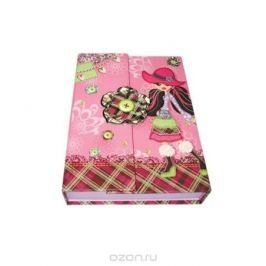 Блокнот с замком FANCY ДЕВОЧКА В ШЛЯПКЕ, твердая обложка, в подарочной упаковке