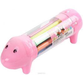 Набор фломастеров Собачка цвет упаковки розовый 12 шт 2887476