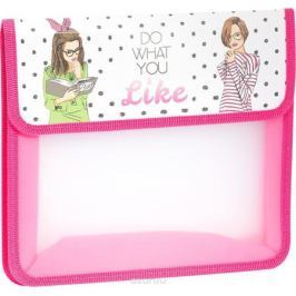ArtSpace Папка для тетрадей Девочки А5 2 отделения на липучке цвет розовый