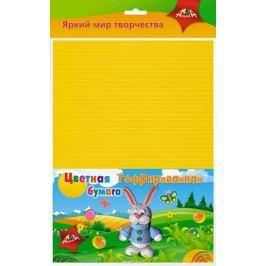 Апплика Цветная бумага гофрированная Зайчик 8 листов 8 цветов