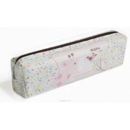 Calligrata Пенал школьный Жирафик цвет розовый 2873726