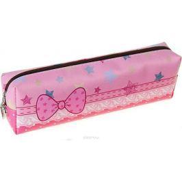 Calligrata Пенал школьный Бабочка цвет светло-розовый 1935435