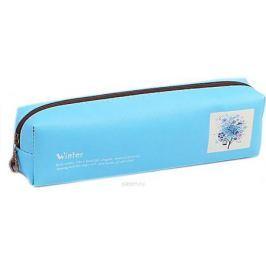 Calligrata Пенал школьный Цветы цвет голубой 2873683